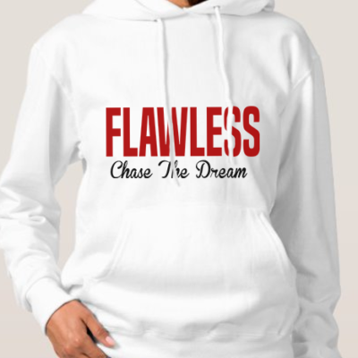 FLAWLESS CTD Adult White Hoodie